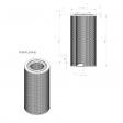Pneumofore 041.430 alternative air filter