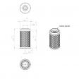 Pneumofore 040.428 alternative air filter
