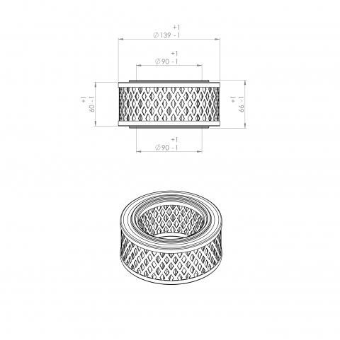 Abac 8973035162 alternative air filter