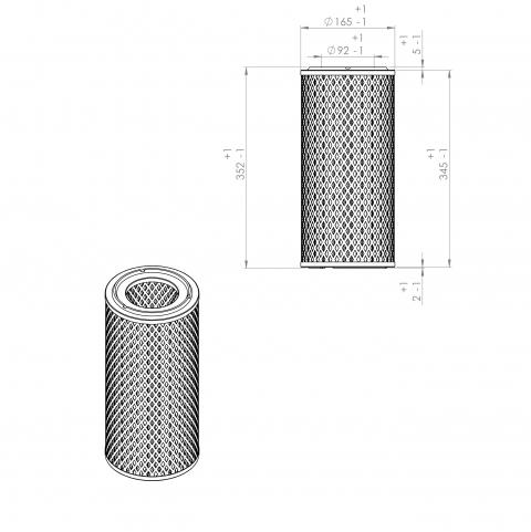 Abac 9056941 alternative air filter