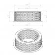 Aerzen 152066000 alternative air filter