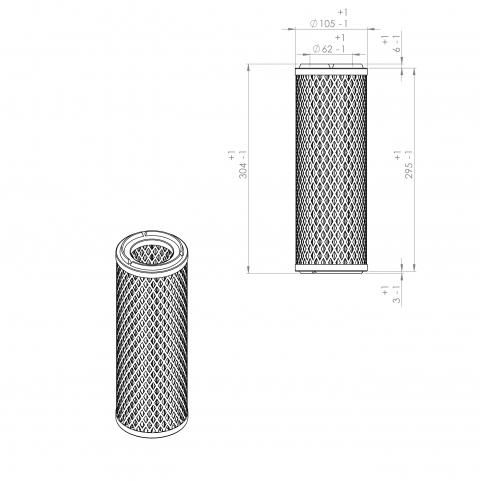 Abac 2236105706 alternative air filter