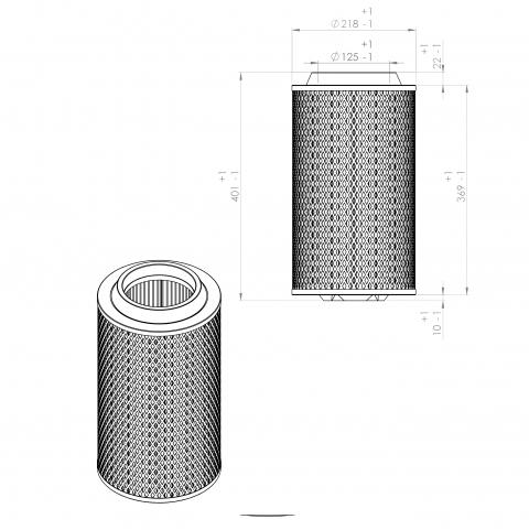 Abac 8973036911 alternative air filter