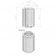 Air-tec SP120066 alternative air filter