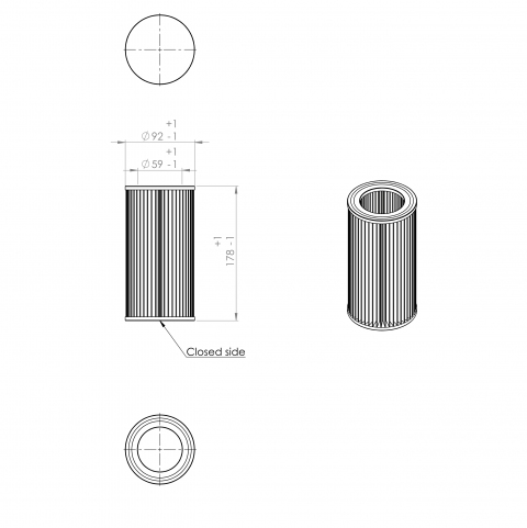 Abac 8973015500 alternative air filter
