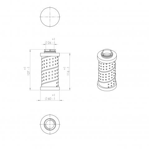 Abac 9055019 alternative in-line filter
