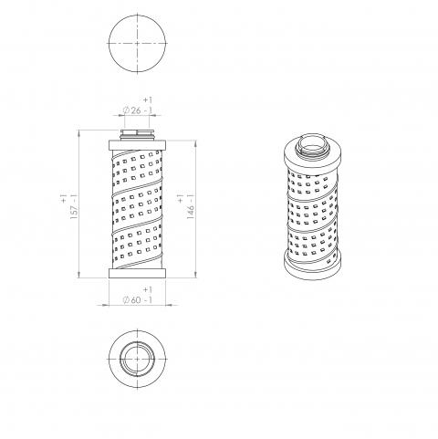 Abac 9055153 alternative in-line filter