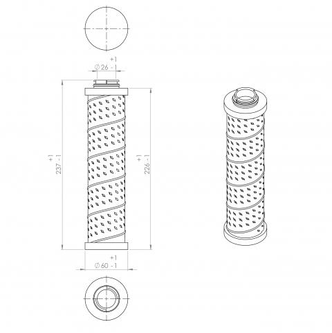 Abac 9055192 alternative in-line filter
