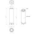 Sullair 250024-428 alternative in-line filter
