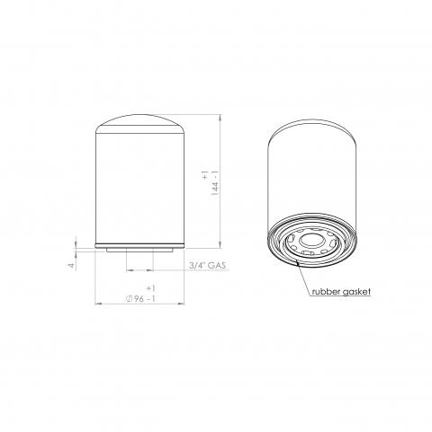 Abac 9056935 alternative oil filter